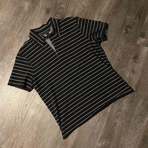 Express Black/White Collared Shirt